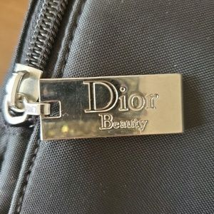Dior beauty cosmetic bag with pouch